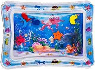 AM ANNA nflatable Tummy Time Premium Water mat Infants and Toddlers is The Perfect Fun time Play Activity Center Your Bab...