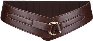 Vintage Western Wide Belt for Women Retro Buckle Elastic Waist Belt