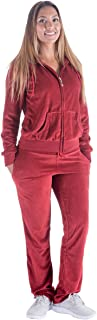 Velour Tracksuit Womens 2 Pieces Outfits Set Zipper Hoodie and Sweatpants Solid Jogging Suits