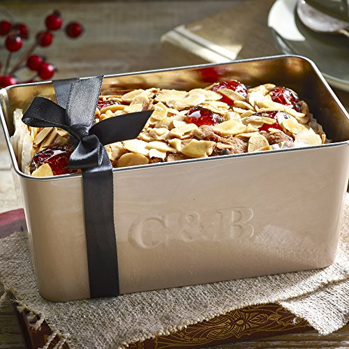 Cartwright & Butler Cherry and Almond Loaf Fruit Cake | Moist Fruit Cake with Generous Chunks of Cherries and Almonds | Presented in a Signature Loaf Tin | Perfect Gift - Cherry and Almond