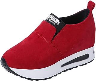 OHQ Zapatillas De Deportivos De Running para Mujer Gimnasia Ligero Sneakers Primavera Salvaje Zapatos De TacóN Ocultos Sin...