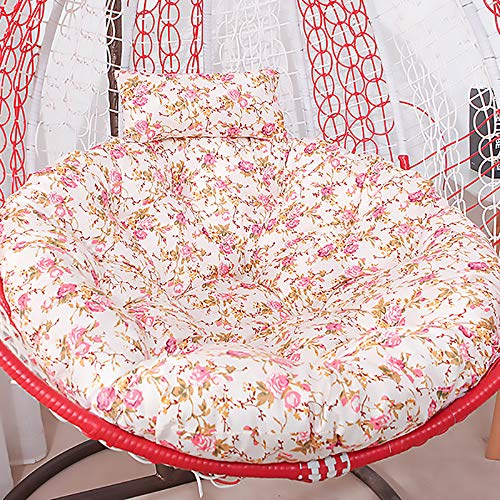 SKRCOOL Indoor Outdoor Swing Hanging Basket Seat Cushion,Thicken Hanging Egg Hammock Chair Pad Sciatica Relieve Rocking Chair Cushion For Hanging Chair Terrace Floral 110cm/43in