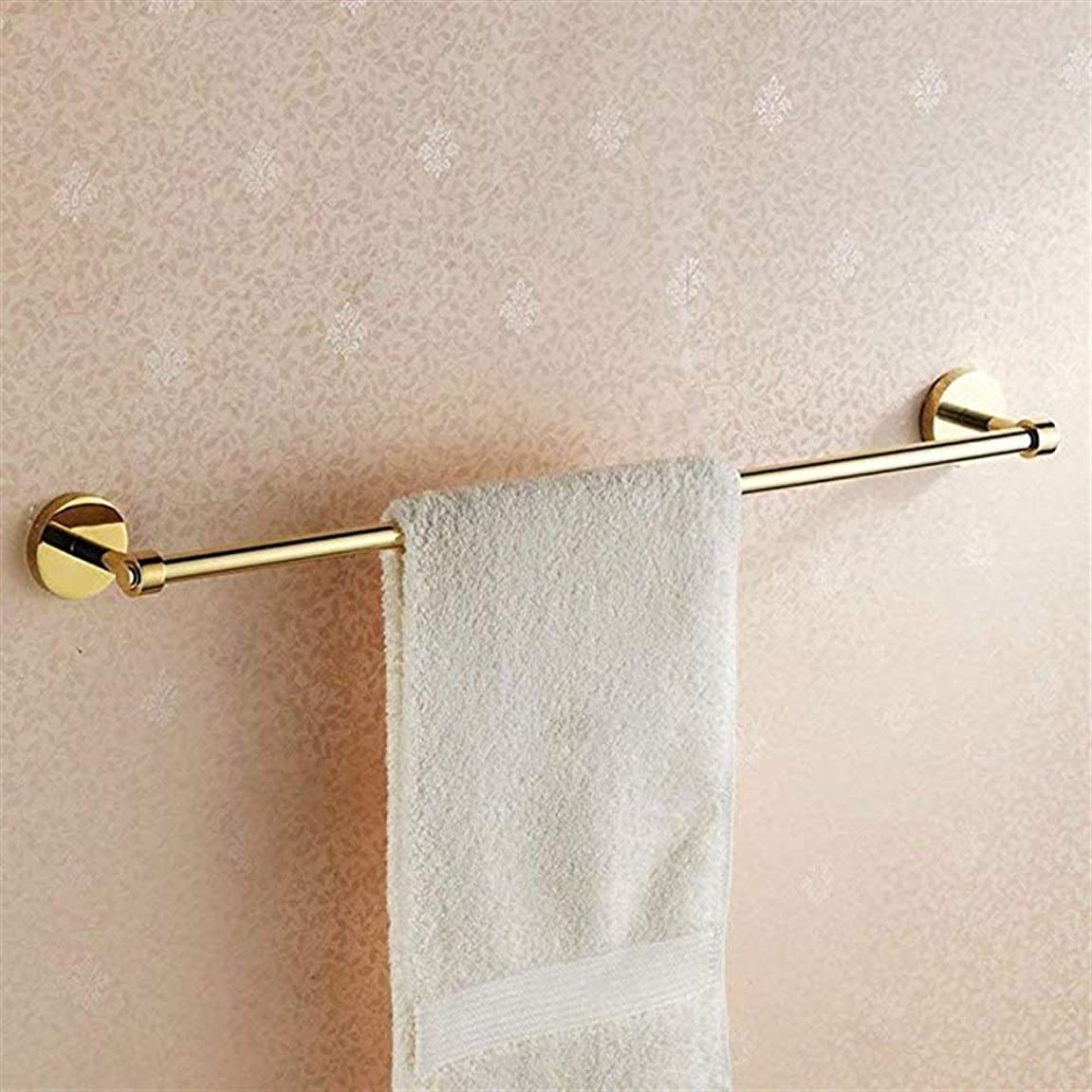 ジャンピングジャック郡宴会XJZxX 壁に取り付けられたタオル掛けタオル掛け単一のポーランド人の銅の浴室タオルバー60cmの浴室タオルバー