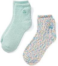 Earth Therapeutics Aloe Socks, 2 Pair Per Package (1 Pair Multi-colored, One Pair Aqua)