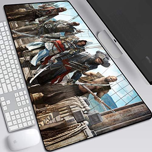VanFty Línea sanguínea Sindicate Revolución Assassin'S Creed Assassin'S Creed Raton Pad 800x300x3mm, 900x400x3mm XL (Color : F, tamaño : 900X400X3MM)