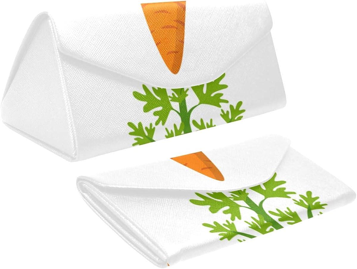 Foldable Special sale item Mens Max 53% OFF Eyeglasses Case Carrot Cartoon Vegetable Tri Fresh