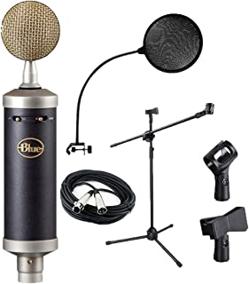 Blue baby bottle SL Large Condenser Microphone,Mic Stand,Mic Clip,XLR Cable,Pop Filter