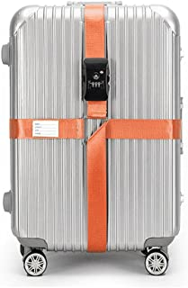 BlueCosto TSA Approved Luggage Strap Suitcase Travel Cross Belt Adjustable - Orange
