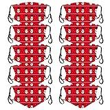 𝐌𝐀𝐒𝐐𝐔𝐄 10 piezas de algodón adulto de Navidad lana años real de punto bufanda caliente grande chal cálido
