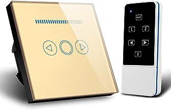Touch dimmer schakelaar 500W afstandsbediening gehard paneel dimmer lichtschakelaar (goud)