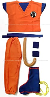 Dragon Ball Anime Cosplay Suit Sun Wukong Fancy Costumes Clothes Vest Tops Pants Belt Tail Wrister Wig Adult Kids Children...