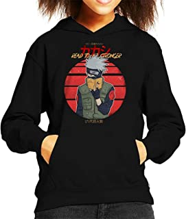 Cloud City 7 Read To Be Stronger Kakashi Hatake Naruto Kid's Hooded Sweatshirt