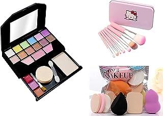 TYAGEN-II Fasion Makeup kit For Fashion Makeup Kit for Girls + Premium Makeup Brushes + PRO TYA Makeup Sponges (5024+HK PINK)