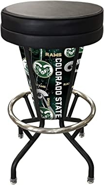 Holland Bar Stool Co. Indoor/Outdoor Lighted LED Colorado State Swivel bar Stool