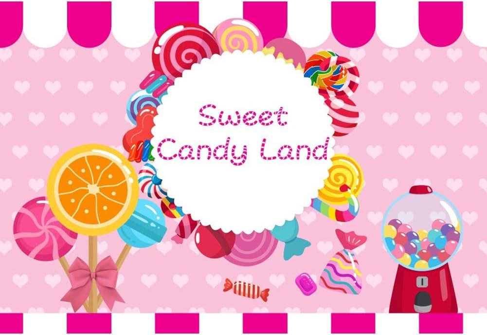 AOFOTO 5x3ft Sweet Candyland Backdrop Baby Shower Photobooth Kids ...