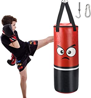 FIGOLO Punching Bag for Kids Man Women, UNFILLED Set Kick Boxing Heavy Punching Bags MMA Training for Kickboxing, and Muay Thai