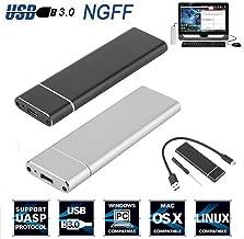 UNVT.MCDWbb Silver M.2 NGFF SSD Hard Disk Drive Case, USB Type-C USB 3.0 NVME PCIE HDD Enclosure Box
