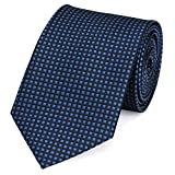 Fabio Farini - Elegante corbata de hombre a cuadros de 8 cm de ancho