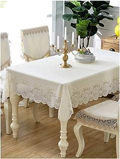 WZHZJ Nappe rectangulaire en PVC résistant à l'huile et à la chaleur, couleur bronze, pour table de salle à manger, décora...