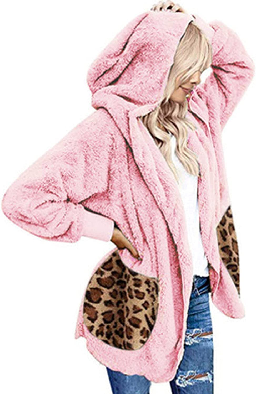 Womens Winter 1 year warranty favorite Fuzzy Cardigan Hoodie Warm Fleece Jacket Cozy Outw