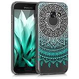 kwmobile Samsung Galaxy A3 (2017) Hülle - Handyhülle für Samsung Galaxy A3 (2017) - Handy Case in Indische Sonne Design Mintgrün Weiß Transparent