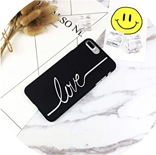 VBNM Fashion Letters Phone Cases for iPhone 7 Case 7 8 Plus Cases for iPhone X PC Back Cover for iPhone 6 Case 6S Capa Fundas,Black Love,for iPhone X