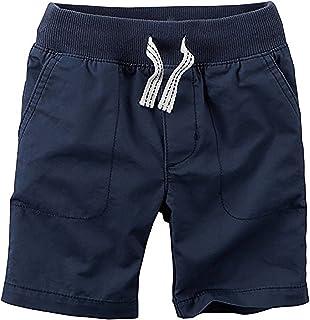 Carter 's Boys ' Navy Flat Front Shorts with Drawstring ( 5?)
