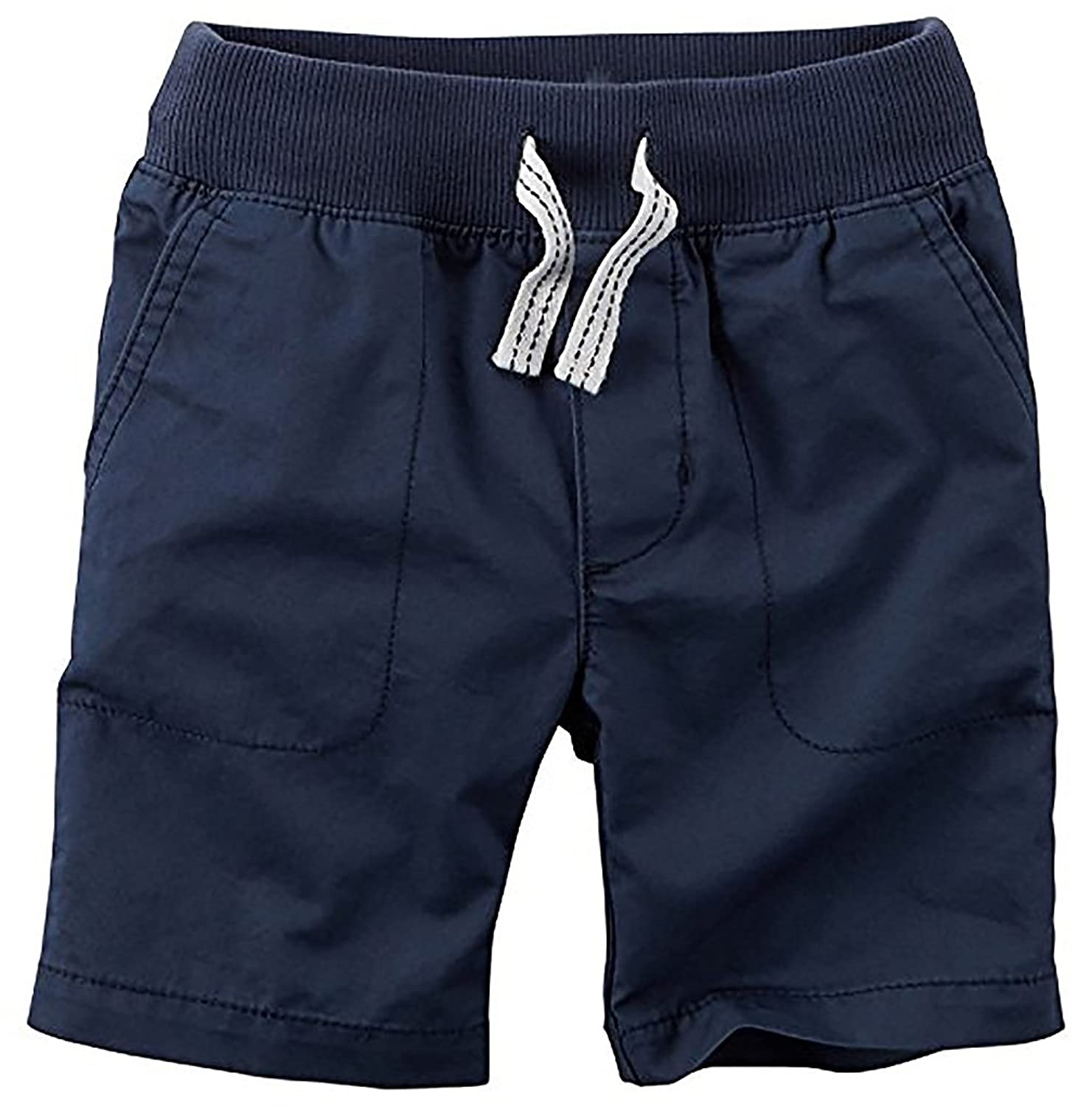 Carter 's Boys ' Navy Flat Front Shorts with Drawstring ( 5?)