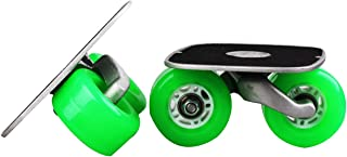 JINCAO Green Portable Roller Road Drift Skates Plate Anti-Slip Board Aluminum Truck with PU Wheels with ABEC-7 608 Bearings