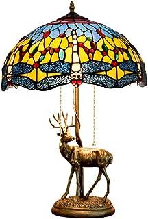 Lampes De Style Tiffany, Lampe De Plancher De Lecture De Haute Qualité, Abat-Jour en Verre De Libellule Bleu À La Main, 2 ...