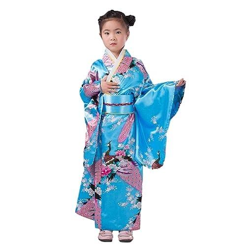 29b13438e3 SSJ Kimono Robe   Flower Design for Kids   Japanese Traditional Costume