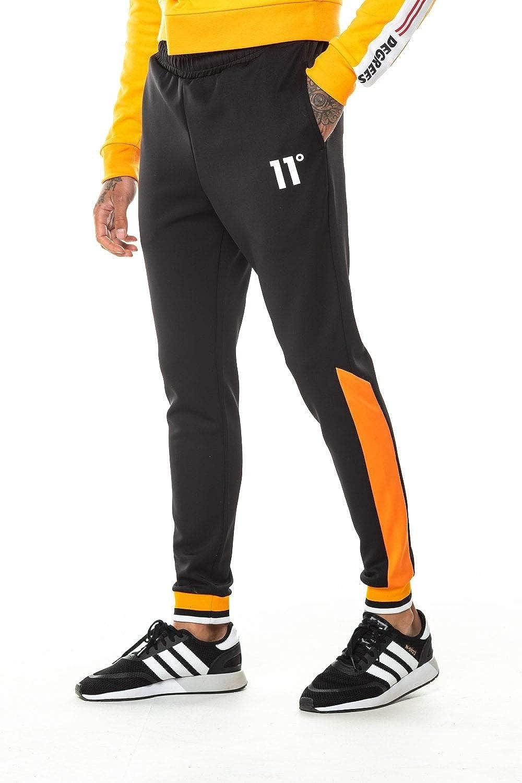 11 Degrees Pantalon Canal/é de Poliester Anclado Negro