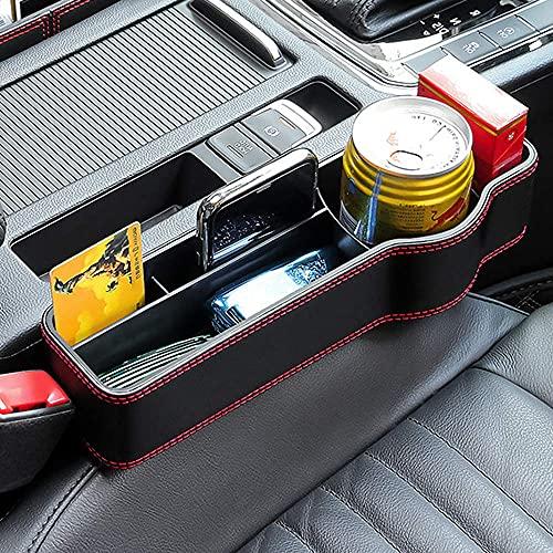 sylbx Bolsa Almacenamiento automóvil Bolsillo Lateral asientoautomóvil Cuero PU Coche Gap Filler Caja Muy Adecuada para almacenar Objeto pequeños en el automóvil Mantienen Espacio Limpio (Derecha)