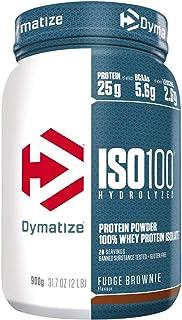 Dymatize ISO 100 Fudge Brownie 900g - Hidrolizado de Proteína de Suero Whey + Aislado en Polvo