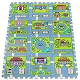 Deuba Puzzlematte 20 TLG - Straßenspiel - 121x91cm Spielmatte Straßenmatte Teppich Kinderteppich Krabbelmatte Spielteppich