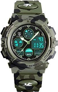 Kids Watch,Boys Watch Ages 7-10,Digital Sport Outdoor Multifunctional Chronograph LED 50M Waterproof Alarm Calendar Analog...