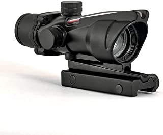 Alrebeto ACOG Type 1X32 Tactical Green or RED Dot Sight Real Green Fiber Optic Riflescope (Red Dot)