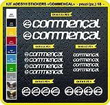 Adesivi Bici COMMENCAL Kit Adesivi Stickers 18 Pezzi -Scegli SUBITO Colore- Bike Cycle pegatina cod.0093 (Bianco cod. 010)