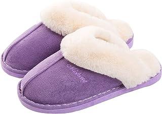 Pantofole da Donna Ciabatte Invernali da Interno Soffici con Dolce Peluche Pantofola Scarpe Antiscivolo Regalo Natalizio p...