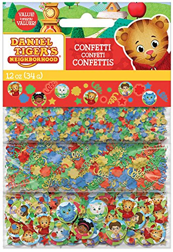 Amscan 361768 Confetti Daniel Tiger's Neighborhood® 1 Pack Party Accessory
