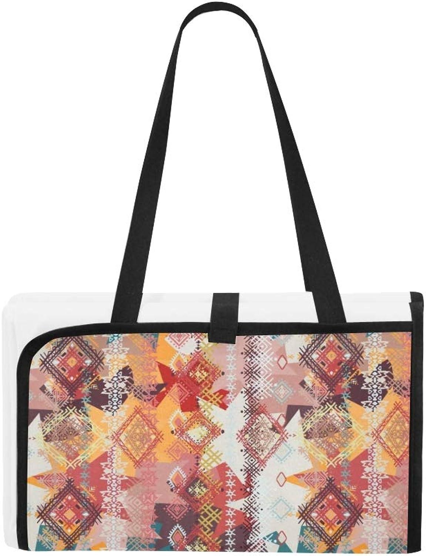 0f6615c84e2f Abstract Ethnic Tribal Art Art Art Portable and Foldable Blanket Mat ...