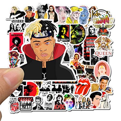 DSSJ 50 Pegatinas de Maleta de Hip Hop Rock Punk Trend Trolley Maleta Pegatinas para portátil