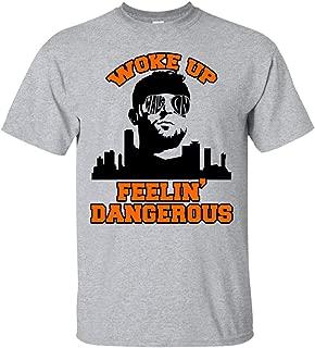 Woke Up Dangerous Cleveland Funny Football T-Shirt - Brownies Needed A Baker V-Neck Shirt