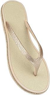 Ladies Womens Open Toe Thong Glitter Sandals Summer Flip Flop Flat Shoes