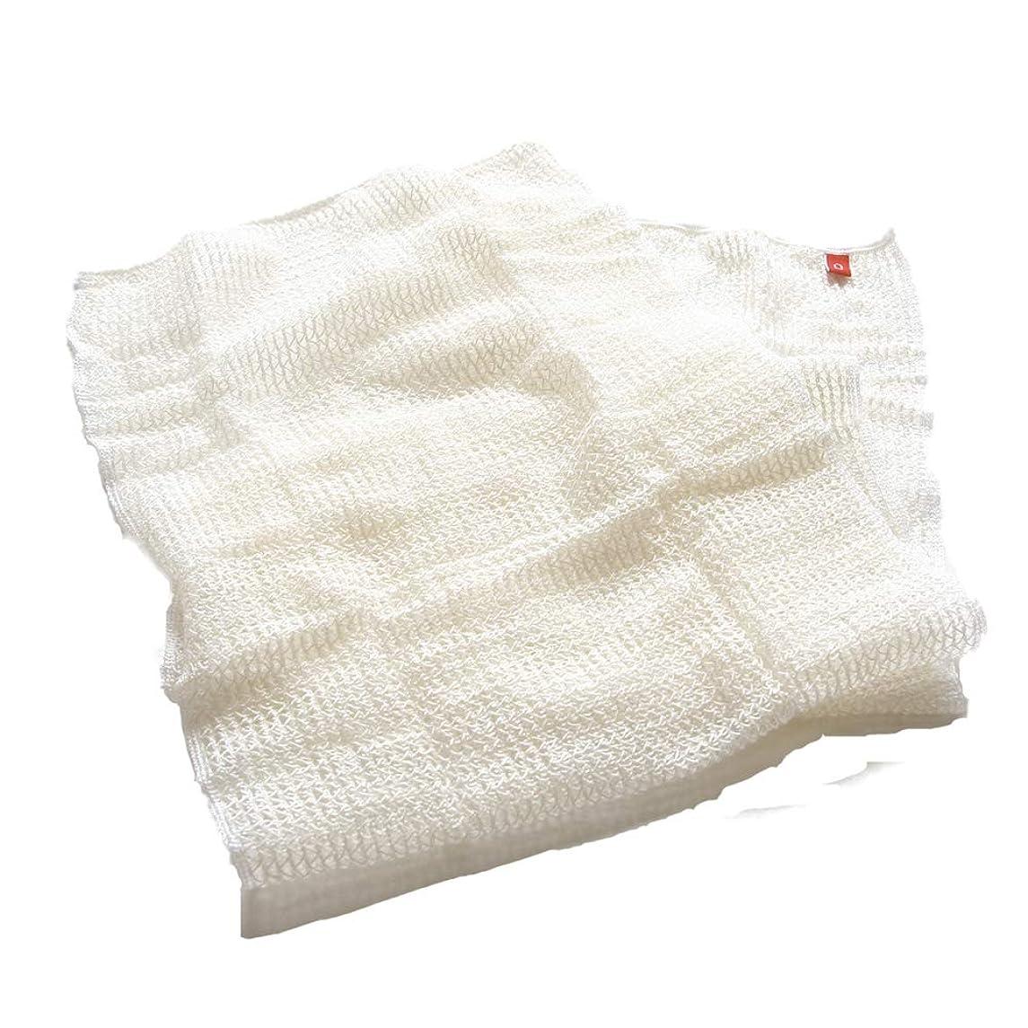 壊れた罰王位【絹屋】シルクととうもろこし 潤美肌 ボディタオル(5439)
