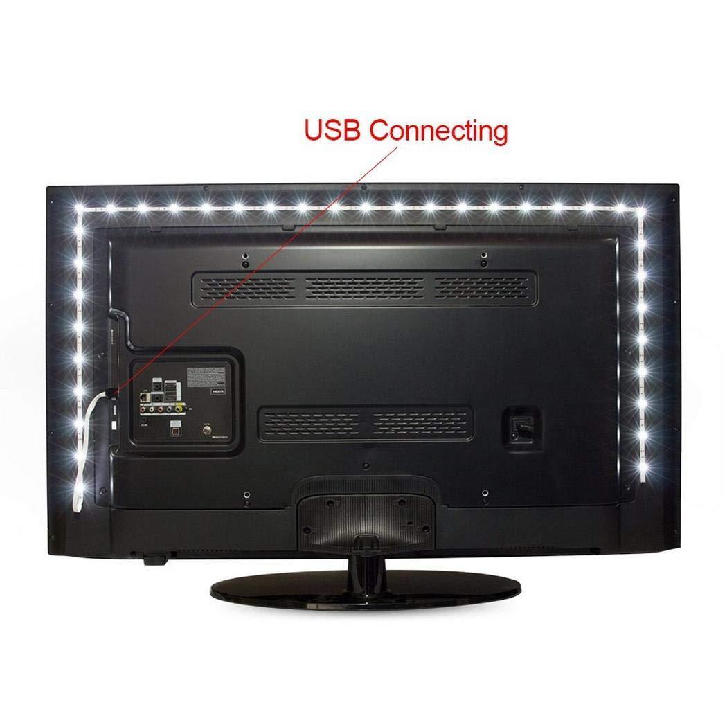 Sisaki LED Tira de TV Tiras LED Retroiluminación LED de TV USB Tira De Luz, de luces RGB Luces Luces de tira LED reducir la fatiga ocular y aumentar la claridad de
