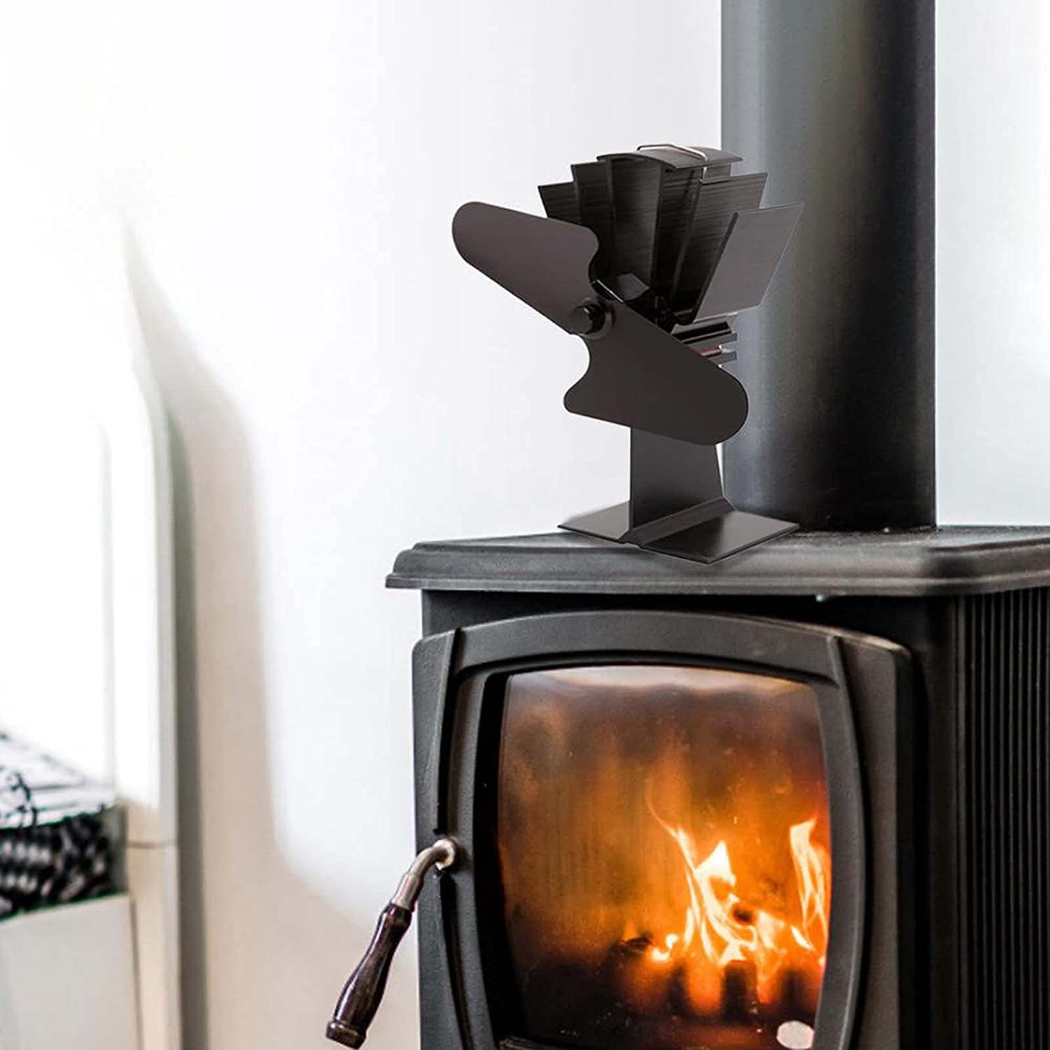 2-Blade Heat Powered Product Stove Fan Max 90% OFF Fans Fireplace Burning Wood Alu