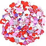 900 Pieces Foam Heart Stickers Valentine's Day Foam Craft Hearts Colorful Foam Stickers Scrapbook Decorations Self-Adhesive Foam Stickers