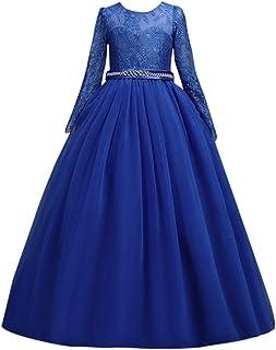 321cf651bb2cf Susenstone Robe Enfant Mignon Fille Ceremonie Anniversaire De Princesse d honneur  Mariage avec Bowknot Longue