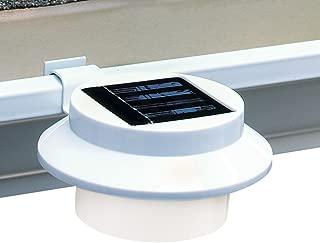 Solar Powered LED Gutter Safety Outdoor Light, Easy Install, White